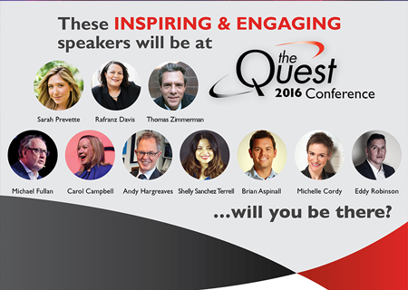 Quest 2016 Speakers Announced!