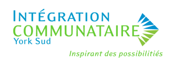 Community Living logo in French which states Integration Communataire York Sud Inspirant des possibilities