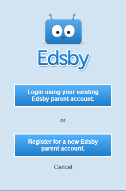 Screenshot of Register for a new Edsby parent account