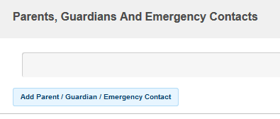 Example of Add Parent, Guardian Emergency contact button