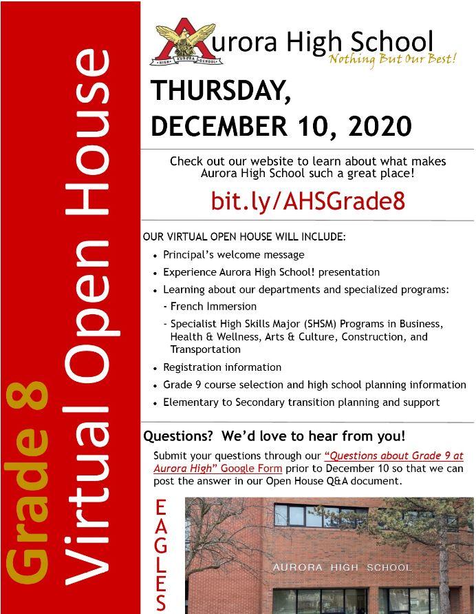 Grade 8 Open House