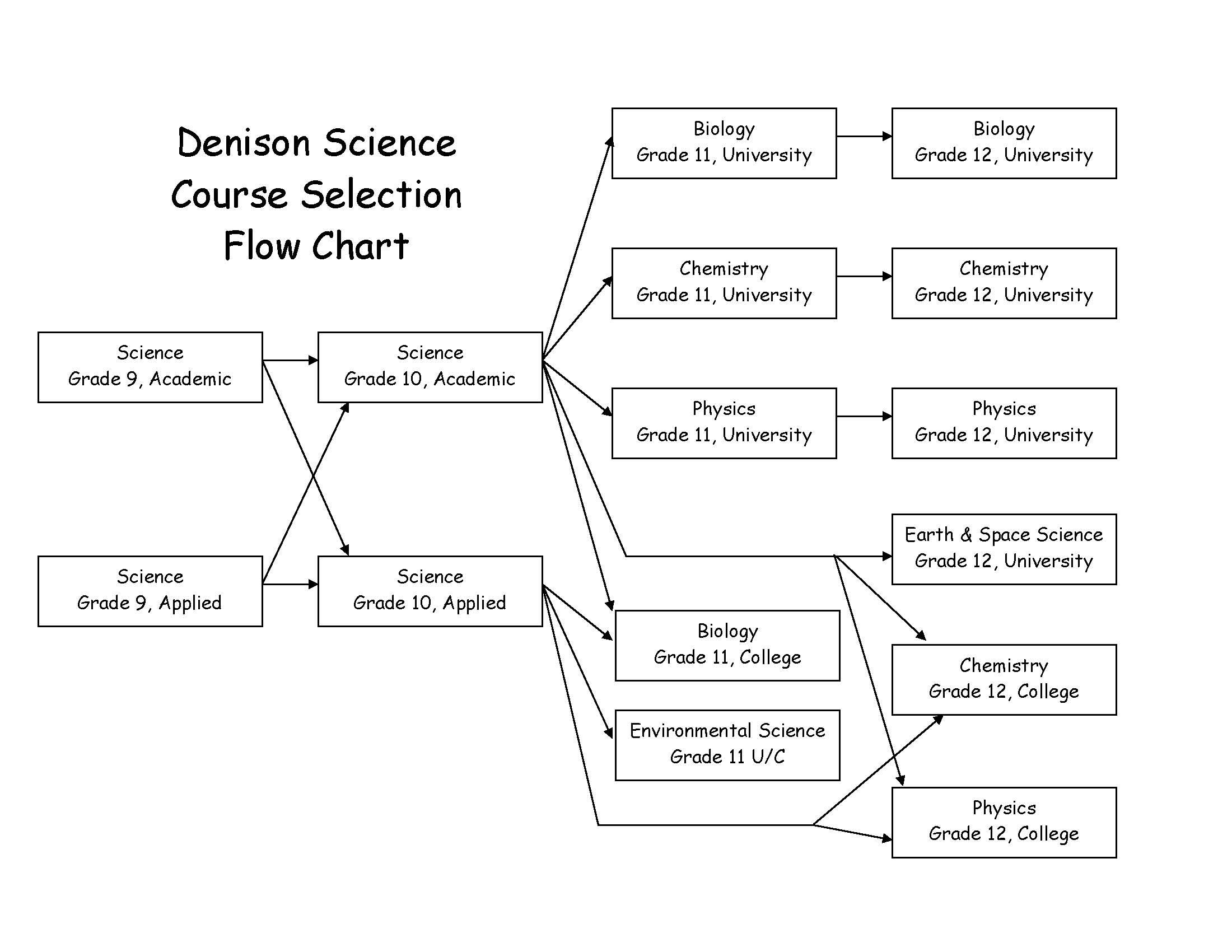 Pages - Course Selection Flow Chart