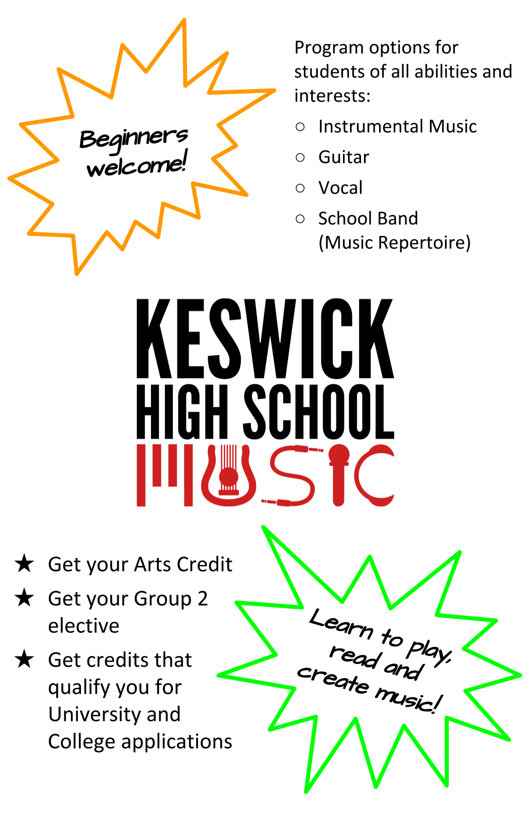 KHS Music Courses - Panel 1 - Info.png