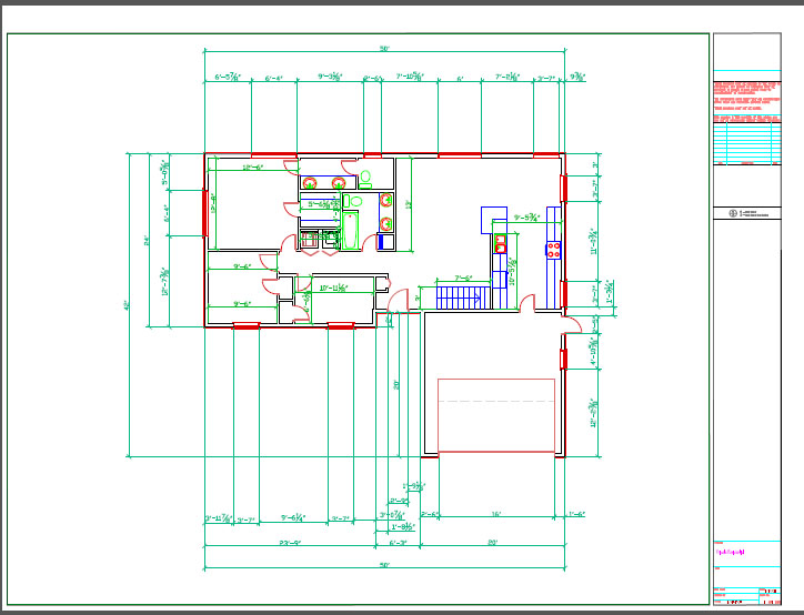 Pages technological design for Autocad floor plan samples