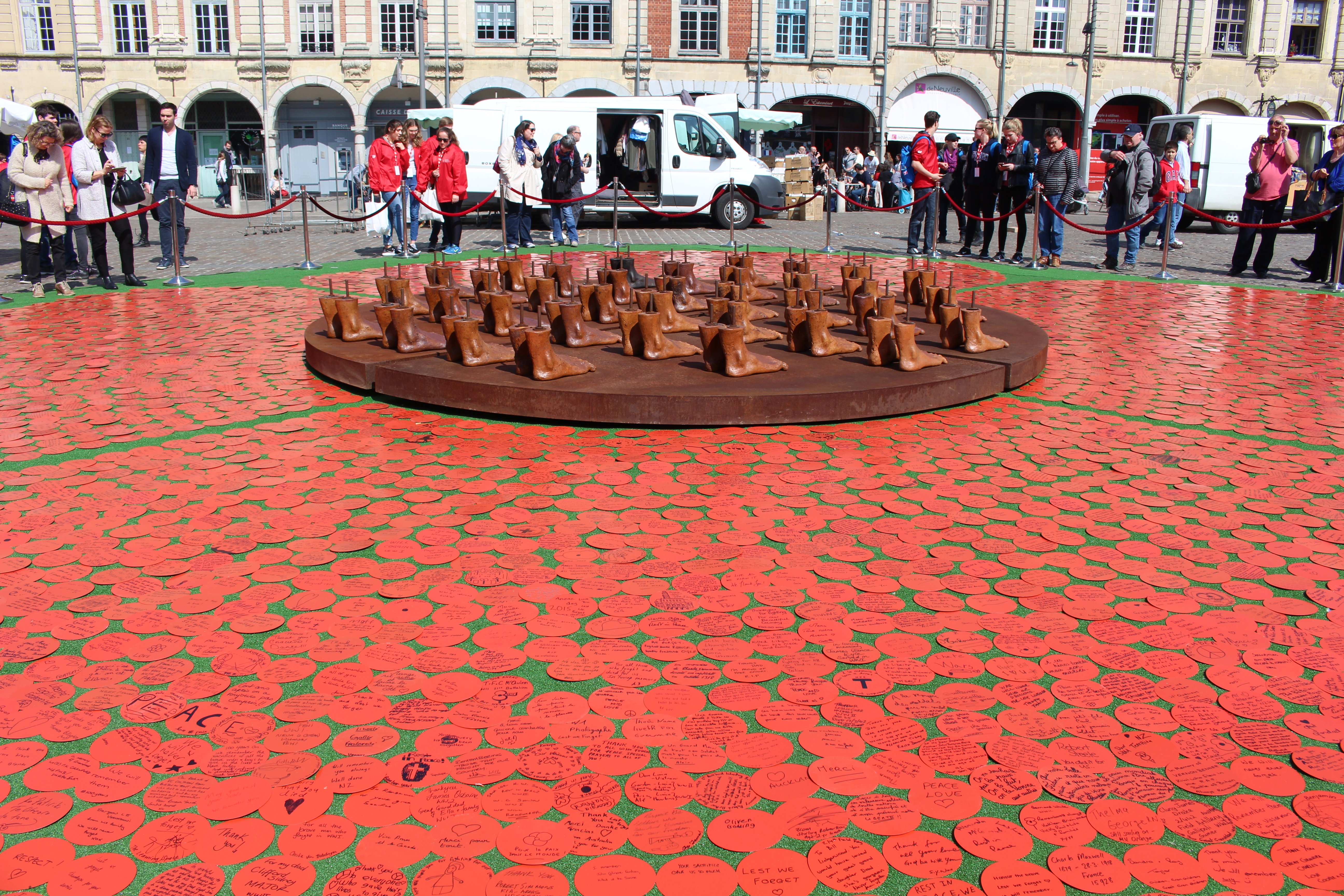Art in City of Arras for Vimy Ceremonies