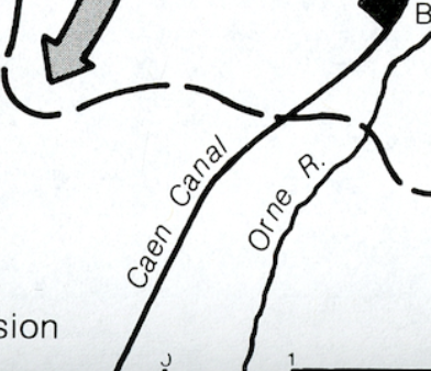 Closer image of Caen Canal from Map