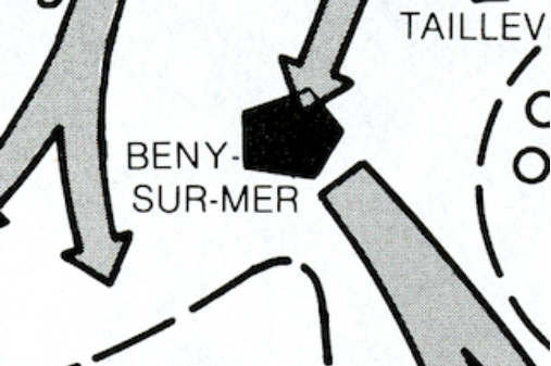 Closer image of Beny-Sur-Mer Area of map