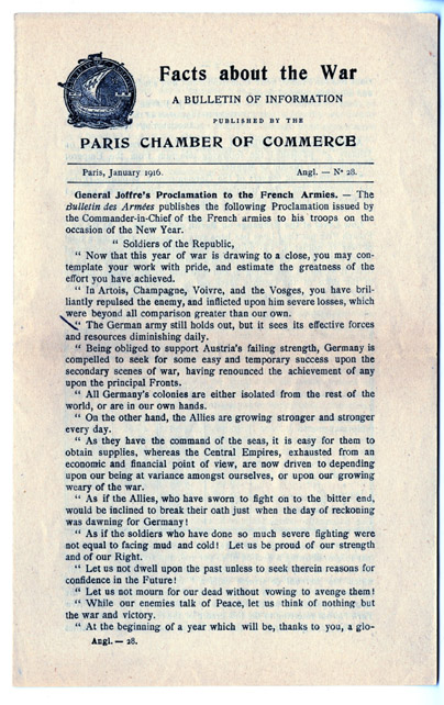 Facts about the war leaflet