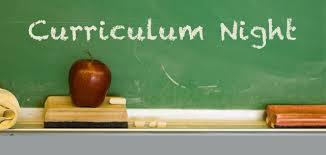 Curriculum Night - September 28, 2017