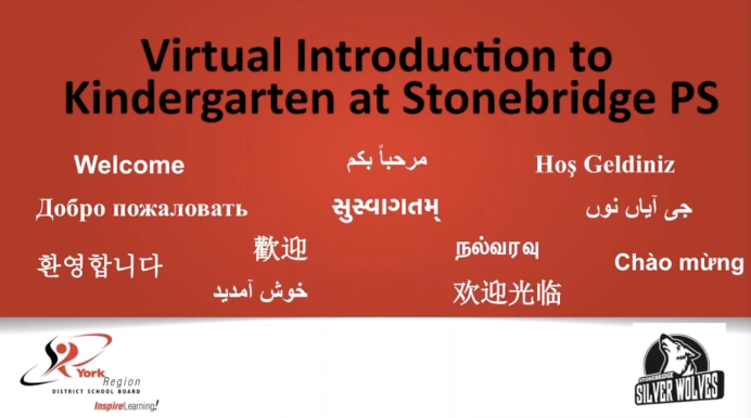 Virtual Introduction to Kindergarten