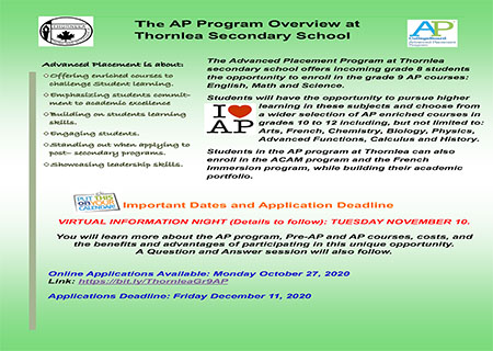 Apply to the Advanced Placement Program Now!