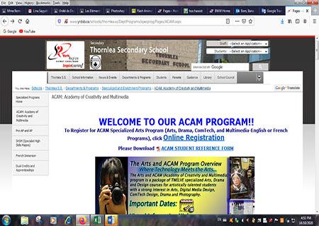 Register Online for the ACAM Program Now