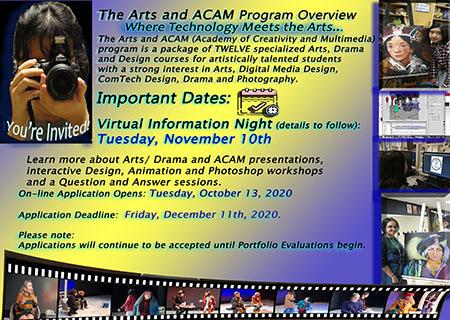 Register for ACAM-Our Arts, Drama and Tech Design Specialized Program