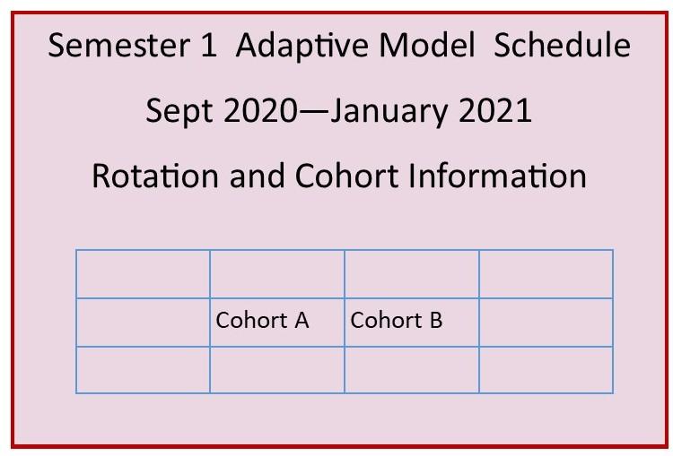 Semester 1 School Schedule 2020-2021